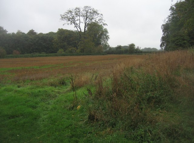 Farmland near Oakley Hall