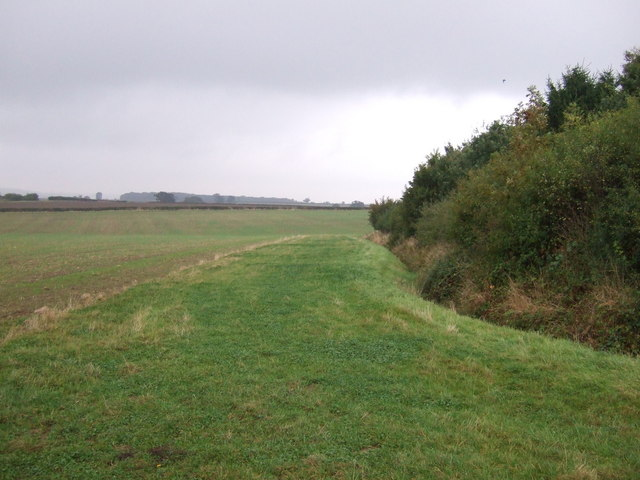 Farmland beside Catbury Wood