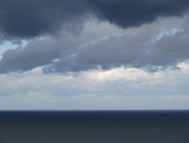 Dark clouds, dark sea