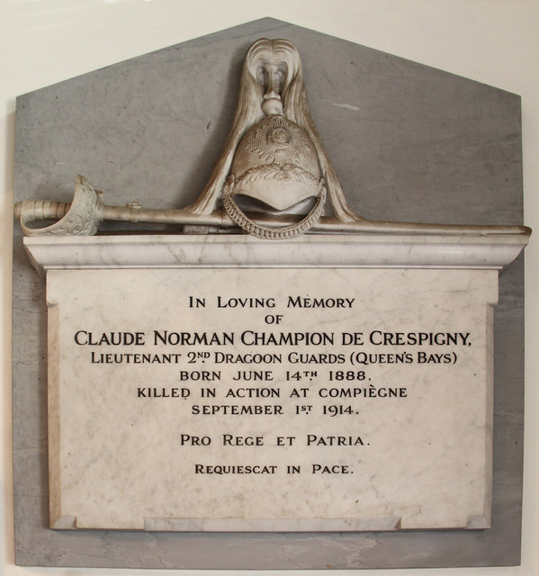 St Peter, Great Totham - Wall monument