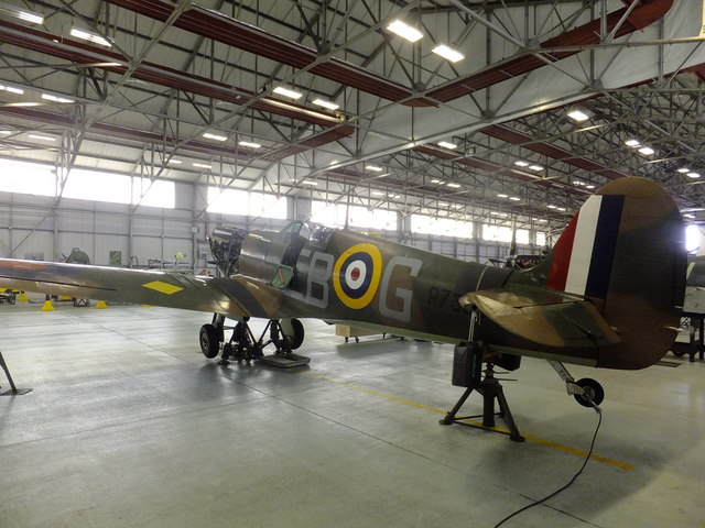 Battle of Britain Spitfire P7350 (Mk IIa) - port side view