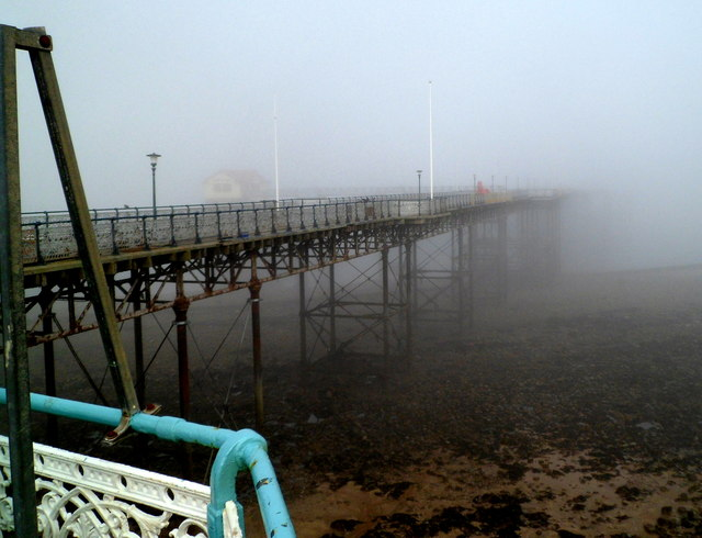 Into the fog, Mumbles Pier, Swansea