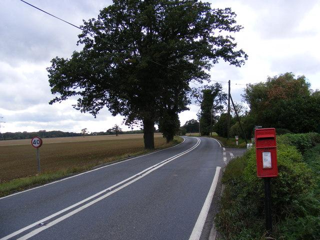 A1071 Back Lane & Park Farm Postbox