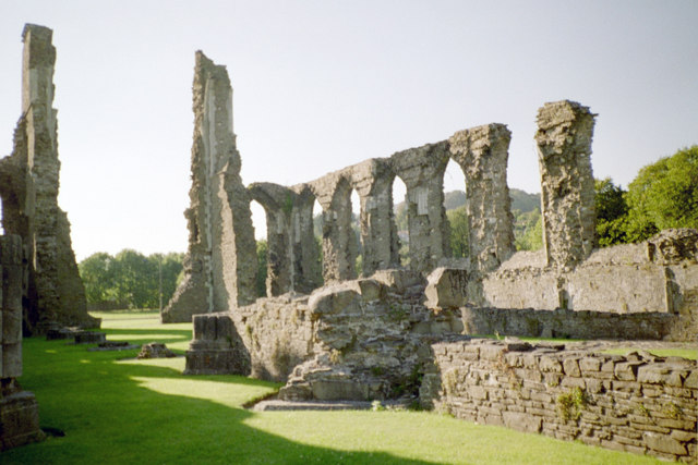Neath Abbey, nave and west front
