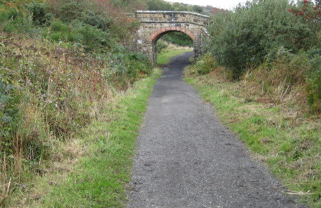 Bridge over the cinder track