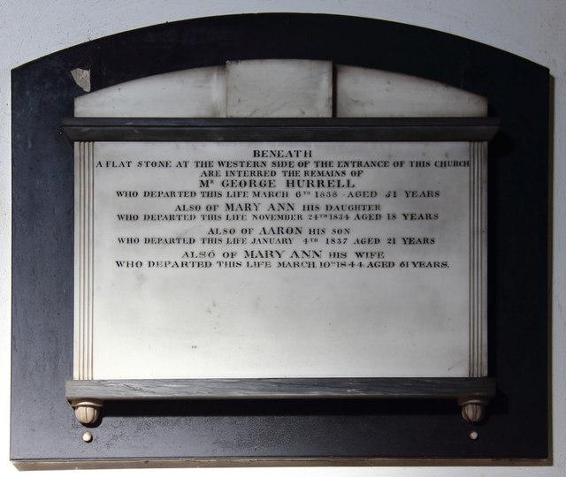 St Mary. Maldon - Wall monument