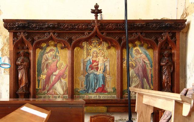 St Mary. Maldon - Reredos