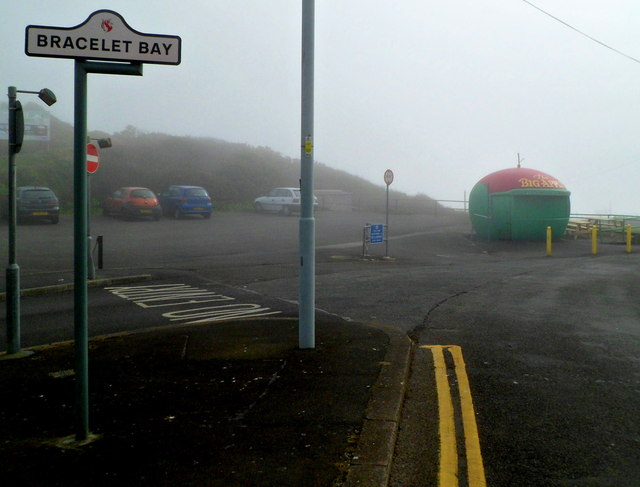 The Big Apple on a clifftop near Bracelet Bay, Mumbles, Swansea