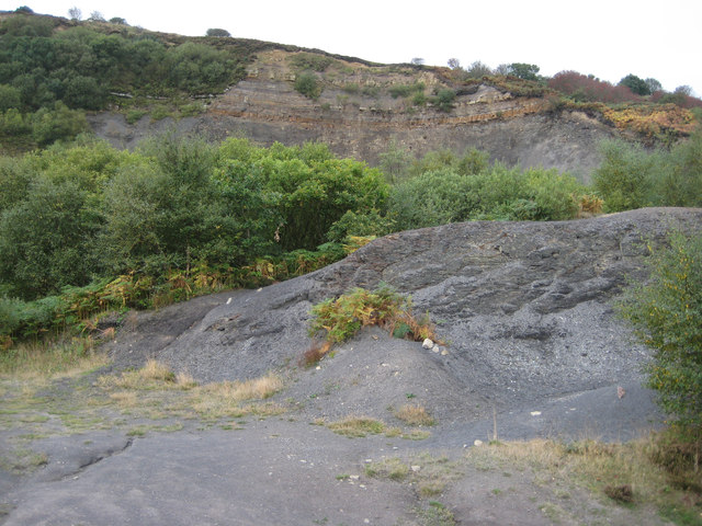 Disused quarry and spoil heap