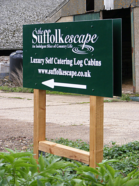 The Suffolk Escape sign