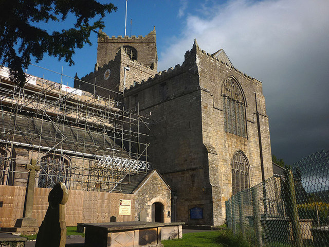 Building work at Cartmel Priory