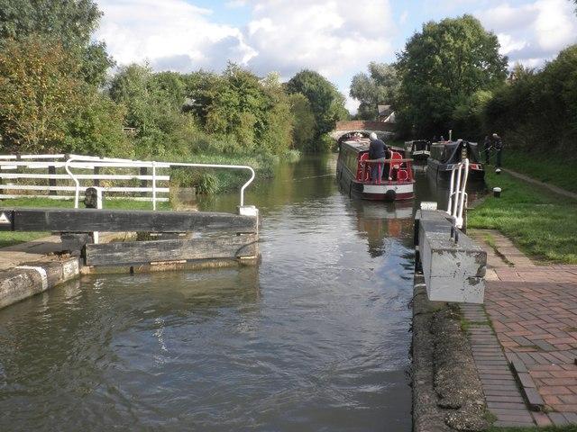 Leaving the lock, Braunston