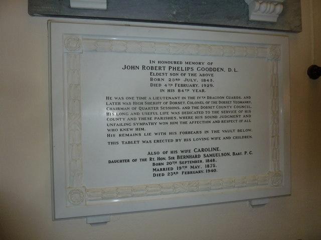 St. Michael, Over Compton: memorial (XV)