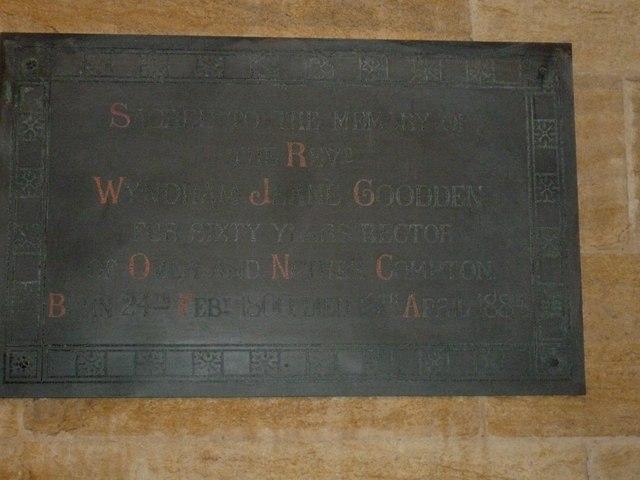 St. Michael, Over Compton: memorial (XVII)