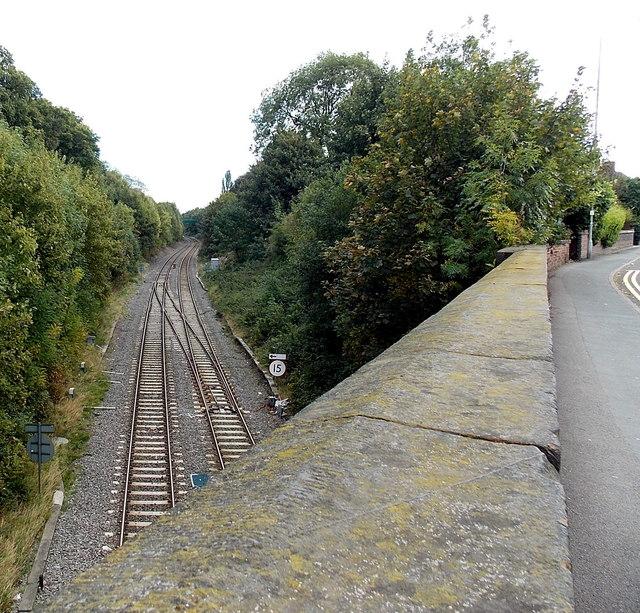 Railway cutting east of King Street bridge, Wellington