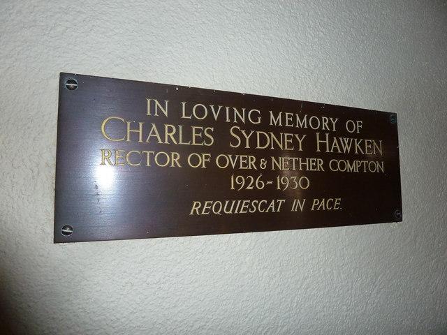 St Nicholas, Nether Compton: memorial (4)