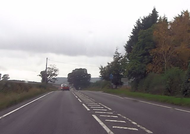 A5 passing Ensdon House turning