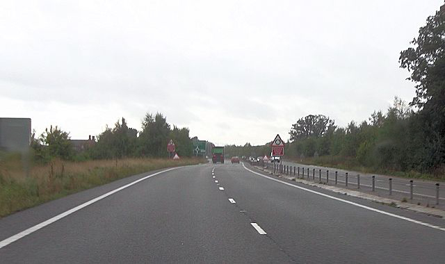 Approaching north end of Nesscliffe bypass
