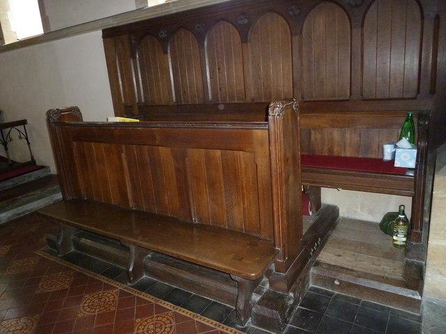 Oborne: New St Cuthbert's (choir stalls)