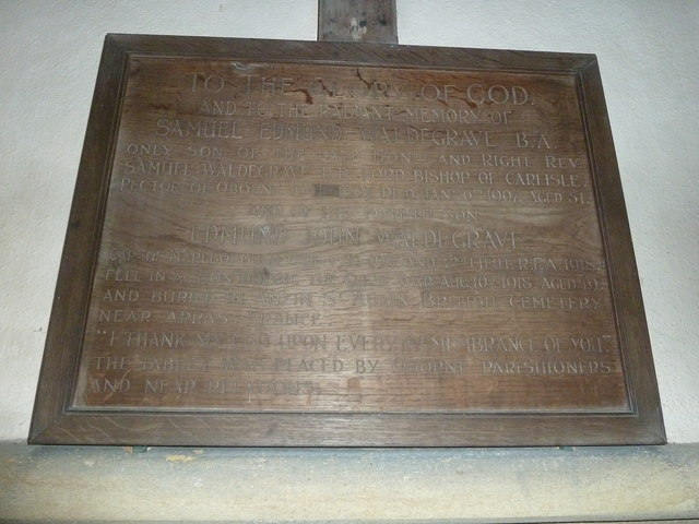 Oborne: New St Cuthbert's (memorial 3)