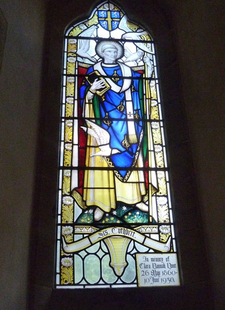 Oborne: New St Cuthbert's (stained glass window 1)