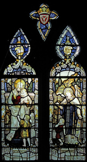 St Giles, Langford - Stained glass window