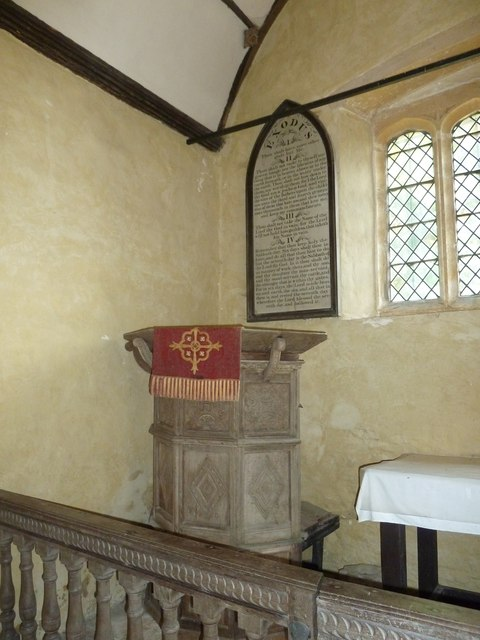 Oborne: Old St Cuthbert's (pulpit)