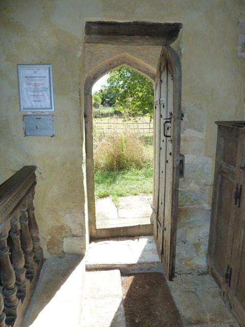 Oborne: Old St Cuthbert's (west door)