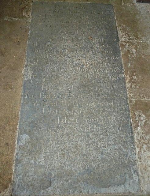 Oborne: Old St Cuthbert's (memorial 2)