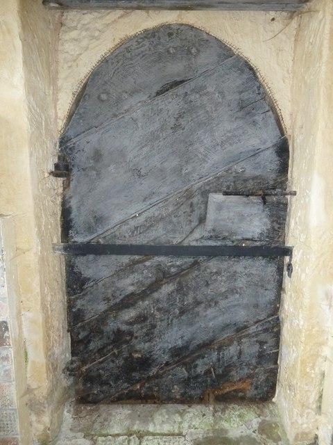 Oborne: Old St Cuthbert's (ancient door)