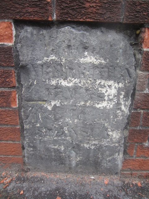 Mile Stone with Cut Mark
