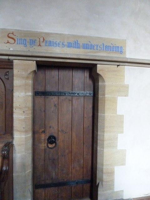 Oborne: New St Cuthbert's (inscription)