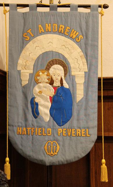 St Andrew, Hatfield Peverel - MU banner
