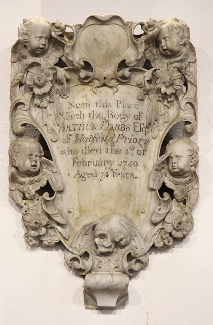 St Andrew, Hatfield Peverel - Wall monument