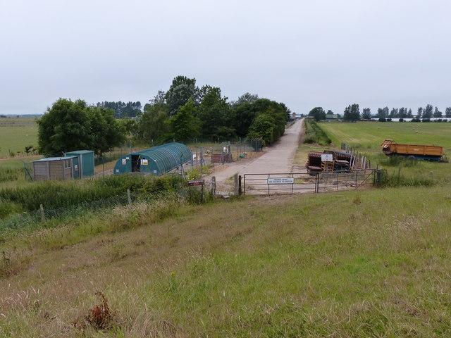 Private road at North Sea Camp Prison