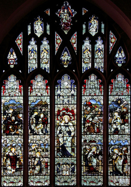St Andrew, Hatfield Peverel - Stained glass window