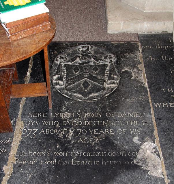 St Andrew, Hatfield Peverel - Ledger slab