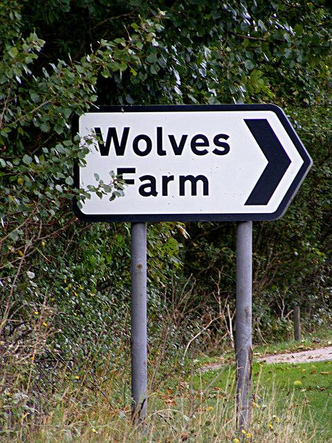 Wolves Farm sign