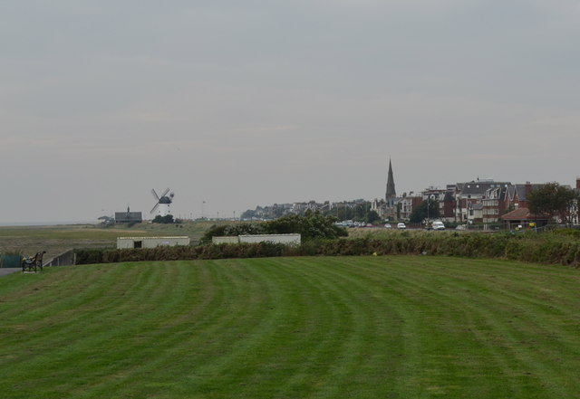 View to the Windmill, from Lytham Quays, Lytham