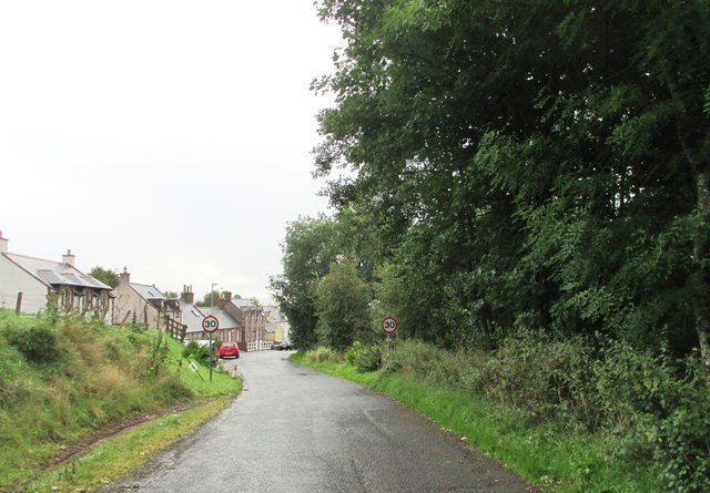 Entering Penpont on Marrburn Road