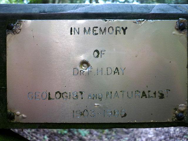 Memorial plaque, Latterbarrow Nature Reserve
