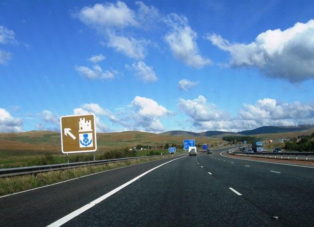 A74(M) northbound