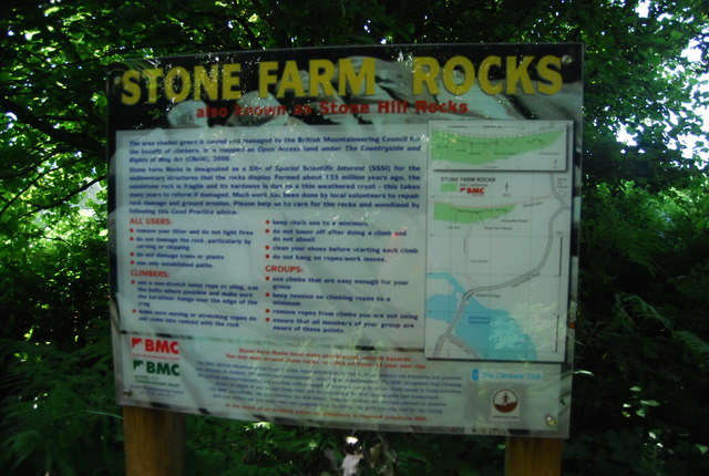 Stone Farm Rocks information board