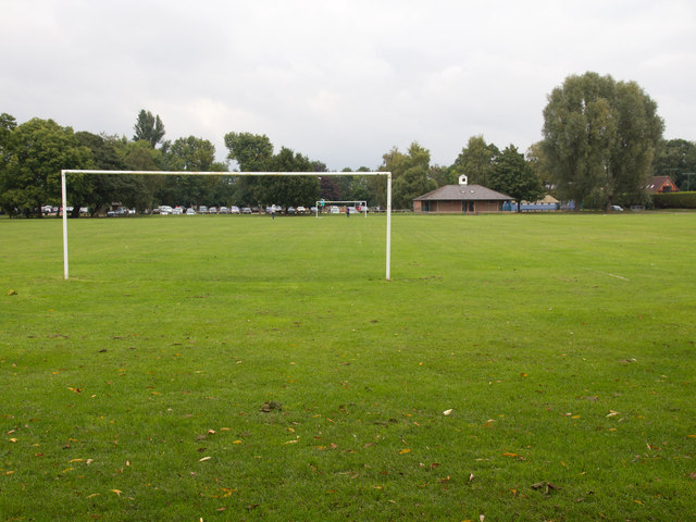 Football pitch on the Recreation Ground