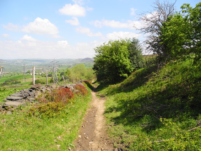 Path north of Ashtonhill Cross