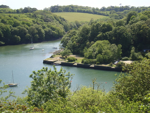 Roundwood Quay and Hill Fort, Calenick Creek, Nr. Truro