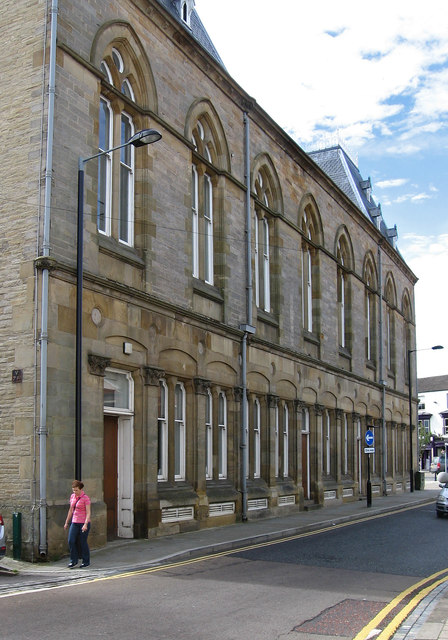 Bishop Auckland - Town Hall - north side