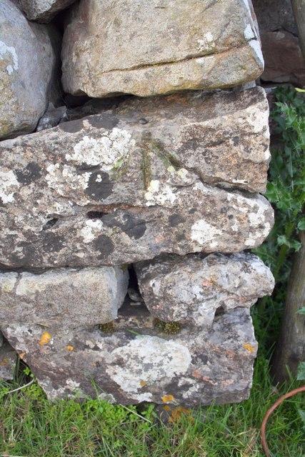 Benchmark on wall on Blea Moor Road