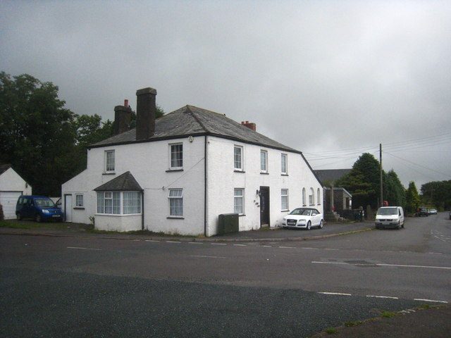 House on the crossroads in Upton Cross