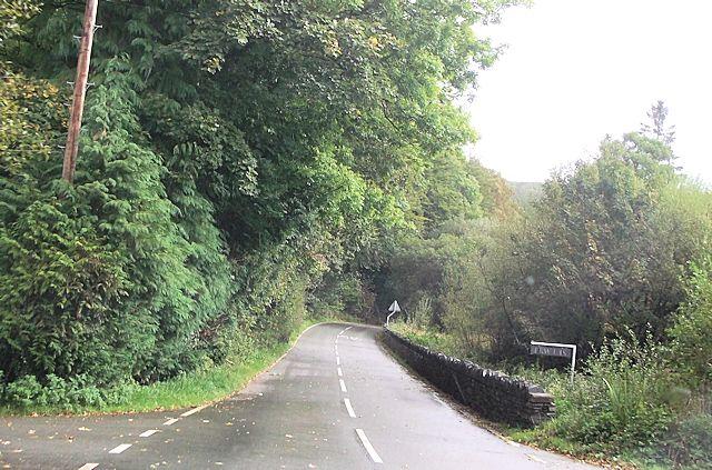 A4085 at Garreg-hyll-drem